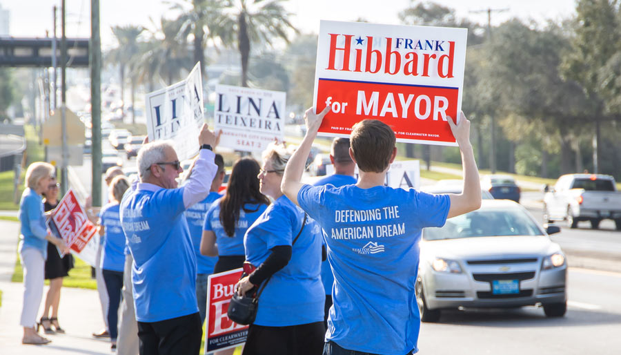 RPAC Sign Waving Election Photo