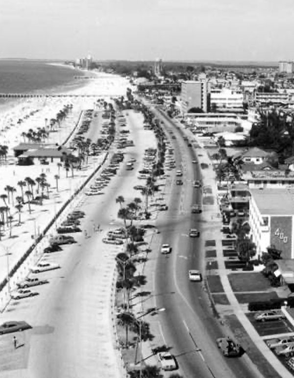Clearwater Beach in 1978