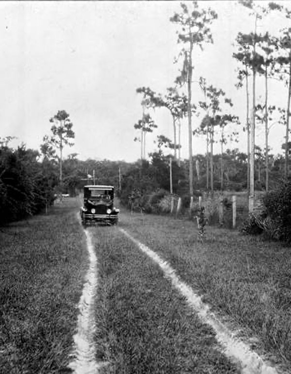 County roads in the '20s were significantly less congested than they are now.